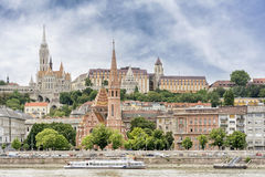 View of Buda coast from Pest, Budapest, Hungary Royalty Free Stock Image