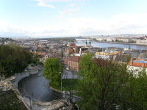 View from Buda hill, Budapest, Hungary Royalty Free Stock Photography