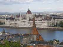 View from Buda hill, Budapest, Hungary. View from Buda hill to the Parliament across the Danube, Budapest, Hungary Stock Photography