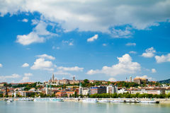 View of Buda side of Budapest. With the Buda Castle, St. Matthias and Fishermen's Bastion Stock Image