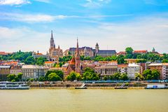 View of Buda side of Budapest. Royalty Free Stock Images