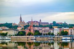 View of Buda side of Budapest. Royalty Free Stock Photography