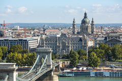 View on the Buda side of the historic centre of Budapest. Royalty Free Stock Photo