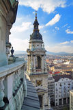 View at Budapest and bell-tower Royalty Free Stock Photos