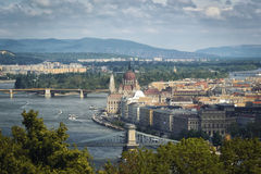 View of Budapest from Citadele Stock Photography