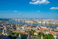 View of Budapest city Royalty Free Stock Photos