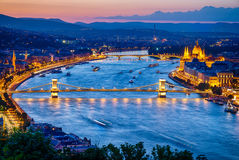 View of Budapest City Royalty Free Stock Photography