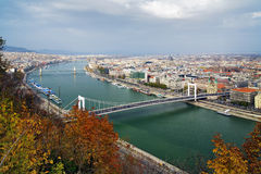 View on Budapest and Danube Royalty Free Stock Image