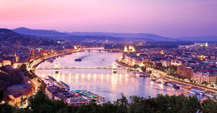 View of Budapest with Danube Royalty Free Stock Images