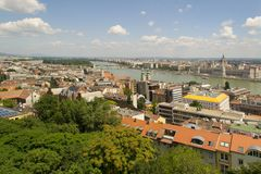 View of Budapest and Danube Royalty Free Stock Photography