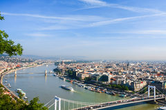 View of Budapest and the Danube river Royalty Free Stock Photo