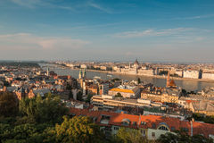View of Budapest and the Danube river in Hungary Royalty Free Stock Photography