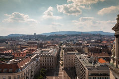 View of Budapest and the Danube river in Hungary Royalty Free Stock Photo