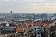 View of Budapest at dawn Royalty Free Stock Photo