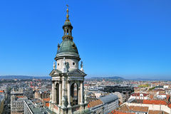 View of Budapest from the dome of St. Stephen's Basilica, Hungary Royalty Free Stock Photos
