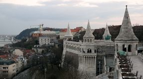 View of Budapest from Fisherman`s bastion Royalty Free Stock Photography