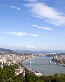 View of budapest from gallert hill Royalty Free Stock Photography