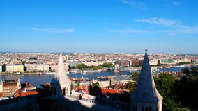View at Budapest, Hungary from Fishermans Bastion stock video