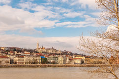 View of the Budapest, Hungary. Panoramic view on the Danube river and church in Budapest Stock Photos