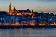 View of Budapest at night. Royalty Free Stock Photo