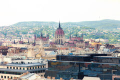 View of Budapest from an observation deck Royalty Free Stock Photos