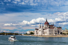 The view of Budapest and the Parliament. Royalty Free Stock Image