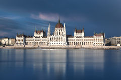 View of Budapest parliament Royalty Free Stock Photos