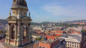 Budapest Skyline from a top of St. Stephen`s Basillica