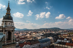 View of Budapest from the top of the Tower Royalty Free Stock Image