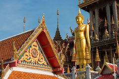 View of buddha statue and gable Stock Image