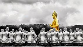 View of Buddha statue Royalty Free Stock Images
