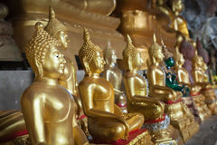 View of buddha statue in Thailand Royalty Free Stock Photos