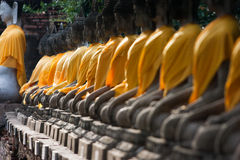 View of buddha statue in Thailand selective focus Stock Photos
