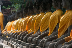 View of buddha statue in Thailand selective focus Stock Photography