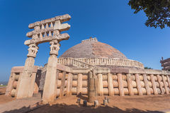 A view of the buddhism temple in Sanchi / India Royalty Free Stock Images