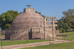 A view of the buddhism temple in Sanchi / India Royalty Free Stock Image