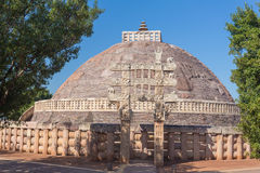 A view of the buddhism temple in Sanchi / India Royalty Free Stock Photos