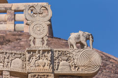 A view of the buddhism temple in Sanchi / India Stock Image