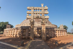 A view of the buddhism temple in Sanchi / India Royalty Free Stock Photo