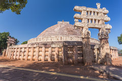 A view of the buddhism temple in Sanchi / India Stock Images