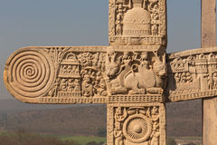 A view of the buddhism temple in Sanchi / India Stock Photography