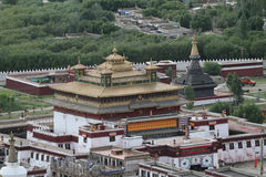 View of the Buddhist monastery Samye Royalty Free Stock Images