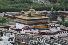 View of the Buddhist monastery Samye Royalty Free Stock Images