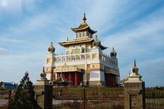 The Buddhist temple. View of the Buddhist temple in the afternoon Stock Photos
