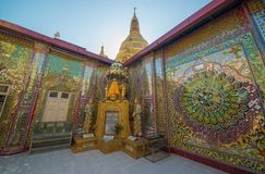 A view of buddhist temple in Mandalay, Myanmar. A beautiful view of buddhist temple in Mandalay city, Myanmar stock photo