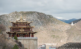 View of Buddhist temple in Shangrila (Zhongdian) Stock Photos