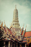 View of the Buddhist Temple Wat Phra Kaew, one of the main landm Stock Image