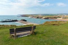 View of Bude coast North Cornwall Stock Photos
