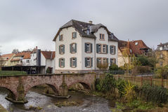 View of Budingen, Germania. View of Budingen with bridge over river, Germany Stock Images