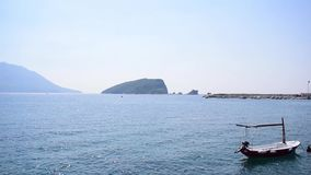 View of Budva City port and Old City stock footage